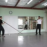 wing chun pole sparring