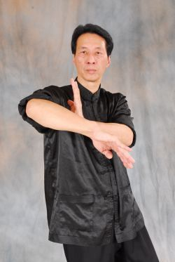 Samuel Kwok doing the Bong Sau in the Chum Kiu form