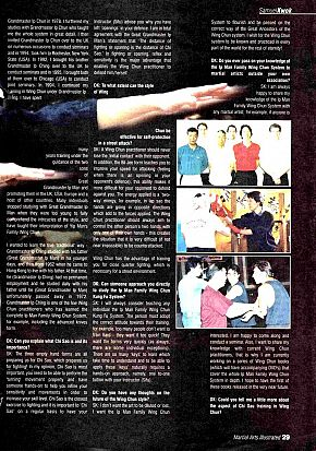 martial arts illustrated article